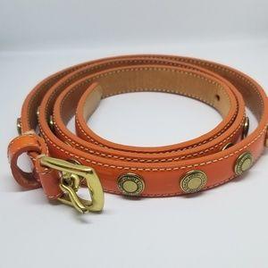 Coach Studded Patent Leather Belt